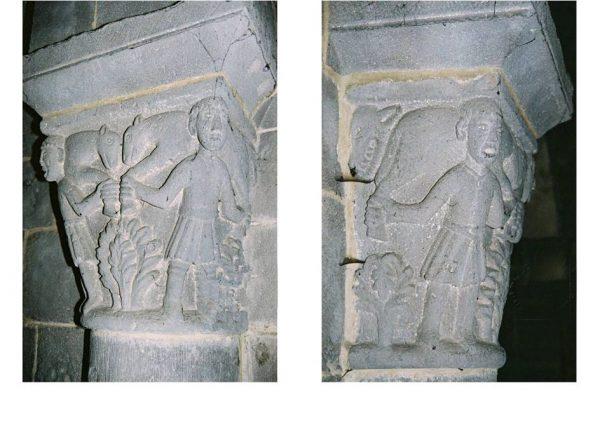 Besse Eglise Saint-André -chapiteau Porteurs de moutons-loup