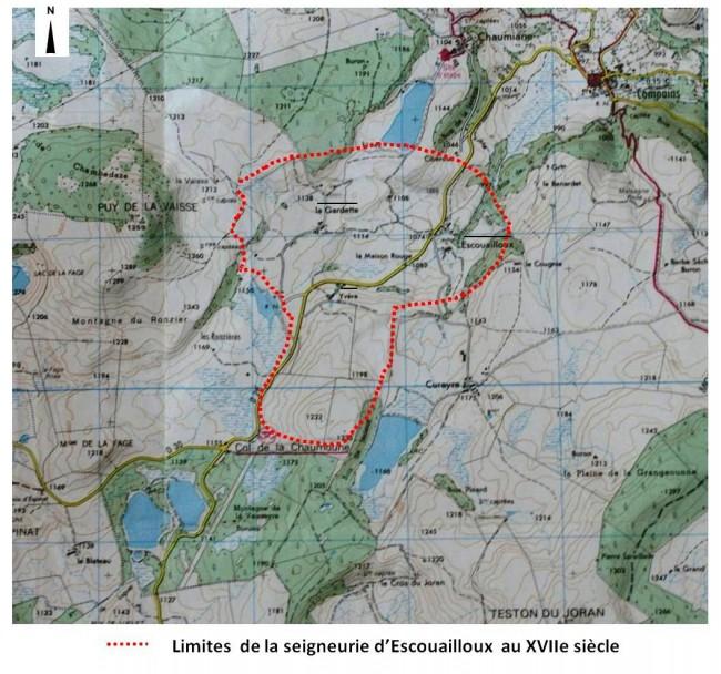 Escouailloux seigneurie XVIIe s.